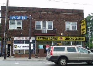 Payday Loans shop front sign