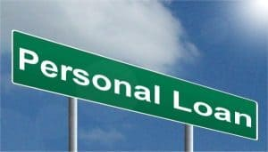 Personal Loans street sign