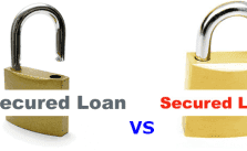 Difference between Secured and Unsecured Loans one padlock open and one padlock closed