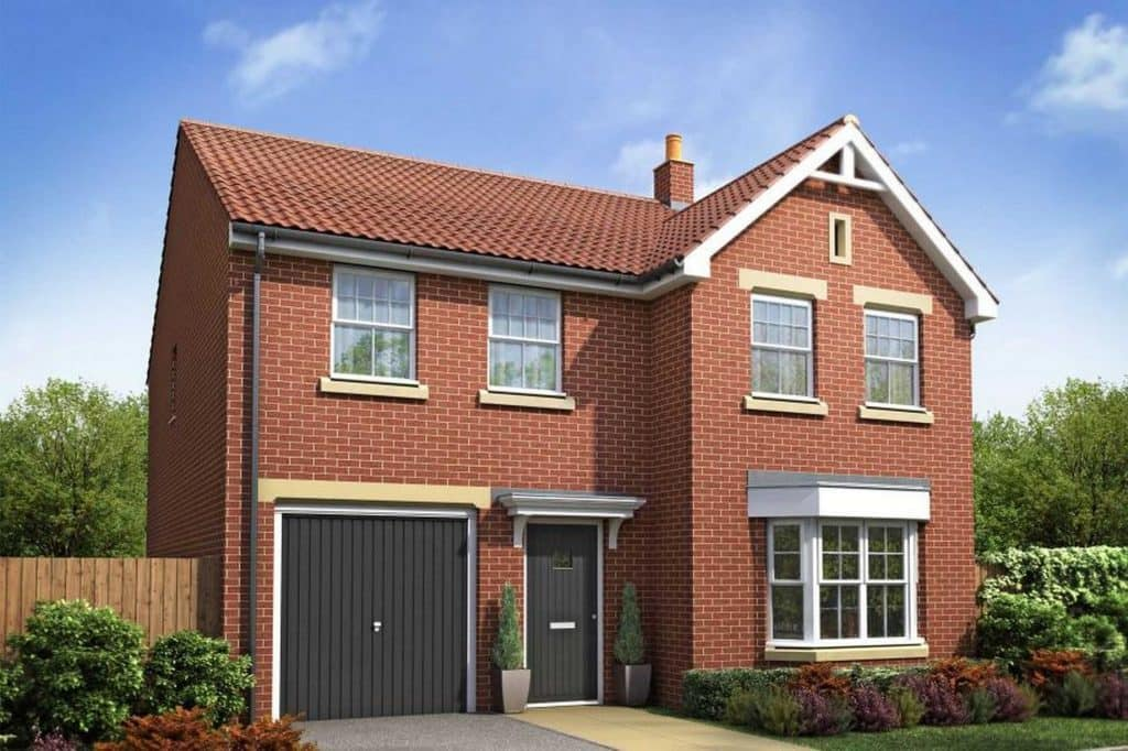 Homeowner Loans red brick detached house