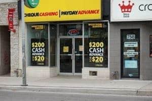 Payday Loan No Credit Check shop front