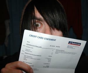 Loans For Unemployed shock at credit card statement