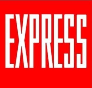 finance express red white sign